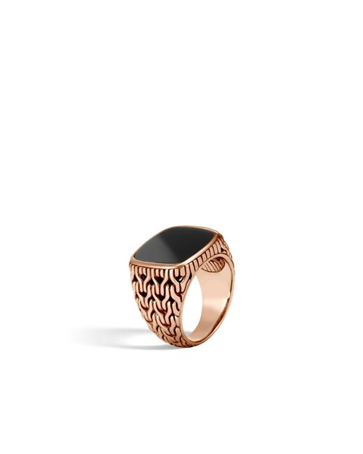 John Hardy - Classic Chain Signet Ring With Black Onyx for Men - Lyst