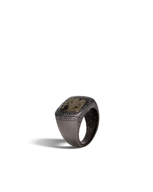 John Hardy | Metallic Classic Chain Signet Ring With Apache Gold for Men | Lyst