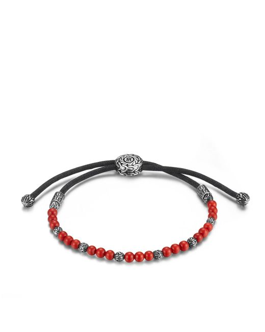 John Hardy | Classic Chain Bead Bracelet With Red Coral | Lyst
