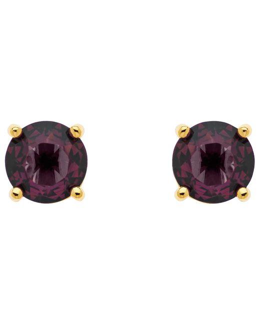 Monet | Purple Glass Crystal Stud Earrings | Lyst