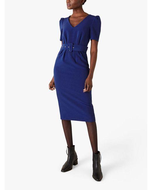 Monsoon Blue Stephanie Belted Shift Dress
