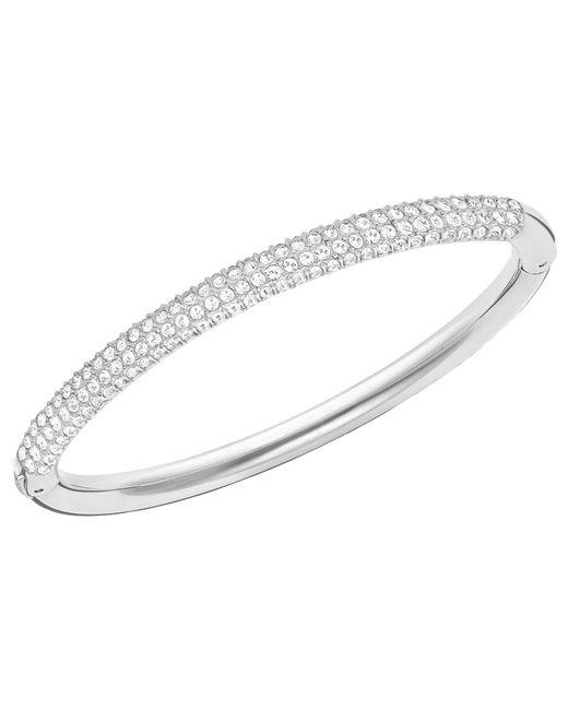 Swarovski | Metallic Stone Mini Crystal Bangle | Lyst