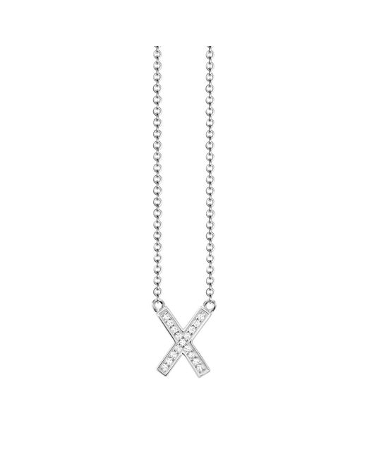 Thomas Sabo - Metallic Glam & Soul Cubic Zirconia Cross Pendant Necklace - Lyst