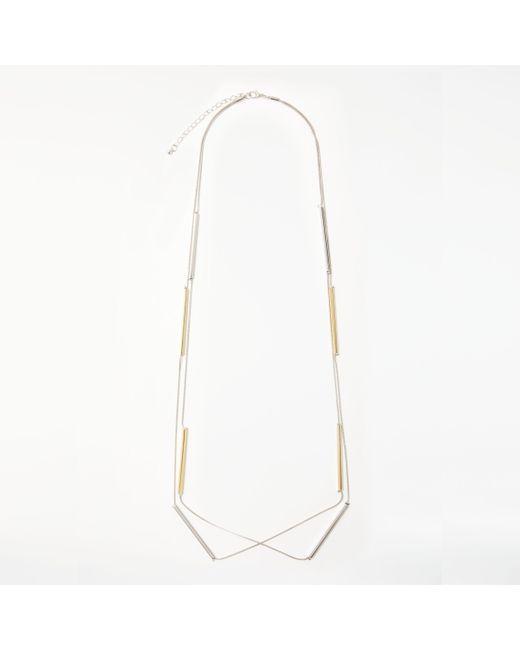 John Lewis - Metallic Long Double Layered Necklace - Lyst