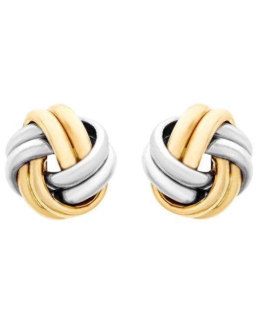 Ib&b - Metallic 9ct Gold Small Knot Stud Earrings - Lyst