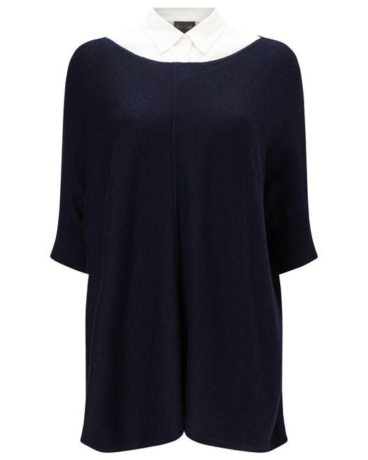 Phase Eight | Blue Rachele Shirt Poncho Jumper | Lyst