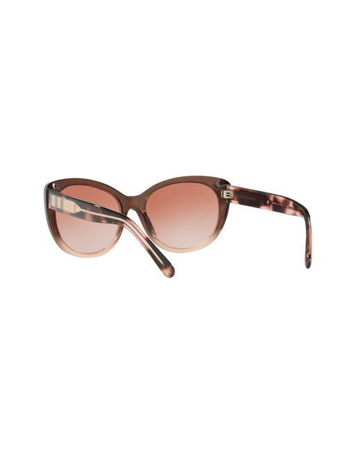 8e3fb9c0a3d7 ... Lyst Burberry - Natural Be4224 Cat s Eye Sunglasses ...