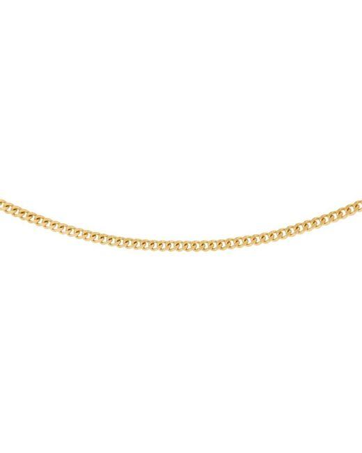 John Lewis - Metallic 18ct Gold Diamond Cut Curb Chain Necklace - Lyst