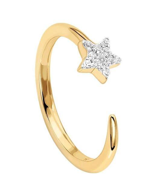 Missoma - Metallic 18ct Gold Vermeil Cosmic Nova Pave Star Ring - Lyst