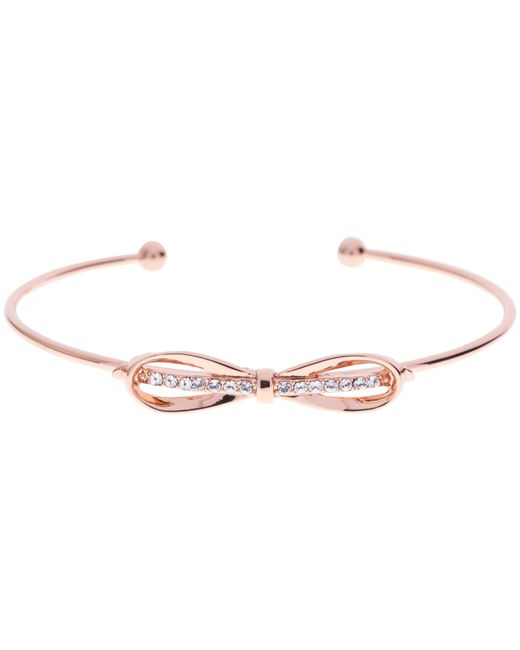 Ted Baker | Pink Sorina Bow Detail Crystal Cuff | Lyst