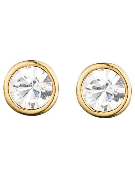 Dyrberg/Kern | Metallic Dyrberg/kern Thelma Small Swarovski Crystal Stud Earrings | Lyst