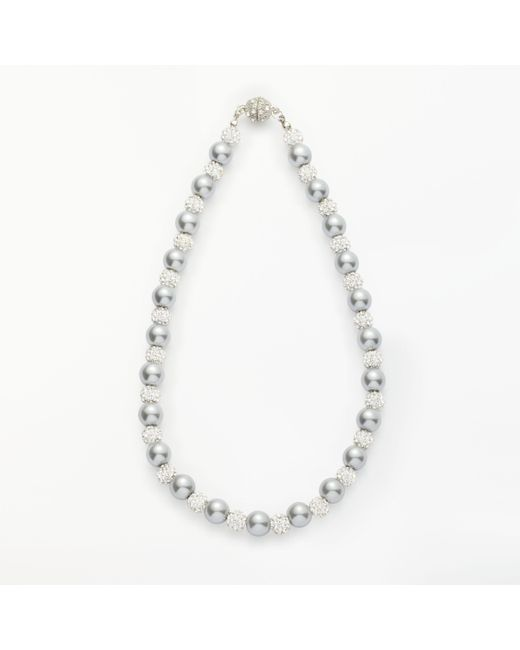 John Lewis - Metallic Faux Pearl And Glass Beaded Magnetic Necklace - Lyst
