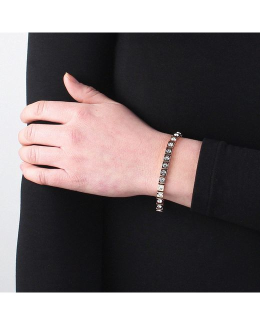 John Lewis - Metallic Dyrberg/kern Swarovski Crystal Tennis Bracelet - Lyst