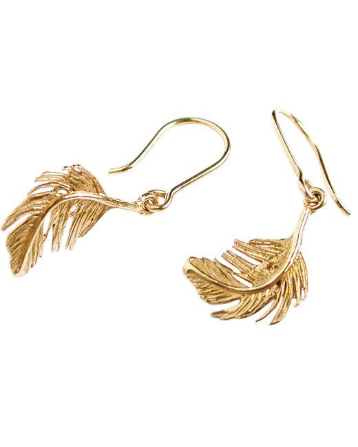 Alex Monroe - Metallic Little Feather Hook Drop Earrings - Lyst