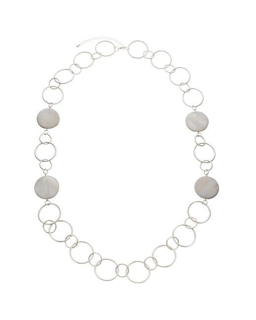 John Lewis   Metallic Large Circles Long Necklace   Lyst