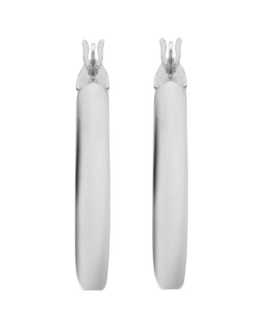 John Lewis - Ibb 9ct White Gold Hoop Earrings - Lyst