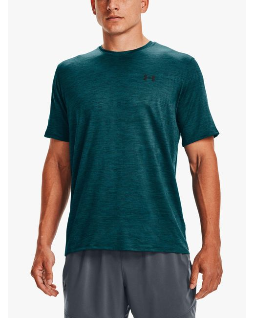 Under Armour Green Training Vent 2.0 Short Sleeve Gym Top for men