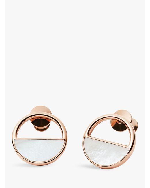 Skagen Metallic Elin Rose Gold-tone Stud Earrings