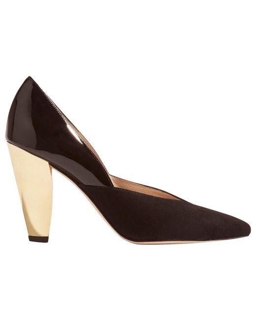 Karen Millen | Black Collection Hammered Heel Court Shoes | Lyst