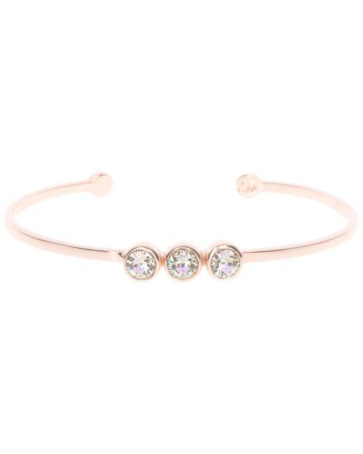 Karen Millen   Pink Swarovski Crystal Dot Cuff   Lyst