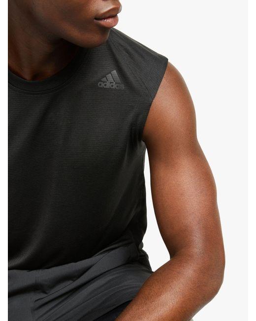 Men's Black Freelift Tech Climacool 3 stripes Training Vest
