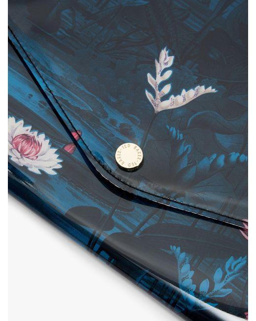 afcf378498d6 ... Ted Baker - Blue Elzina Wonderland Pouch Clutch Bag - Lyst ...