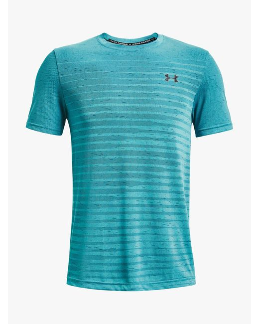 Under Armour Blue Seamless Fade Short Sleeve Training Top for men
