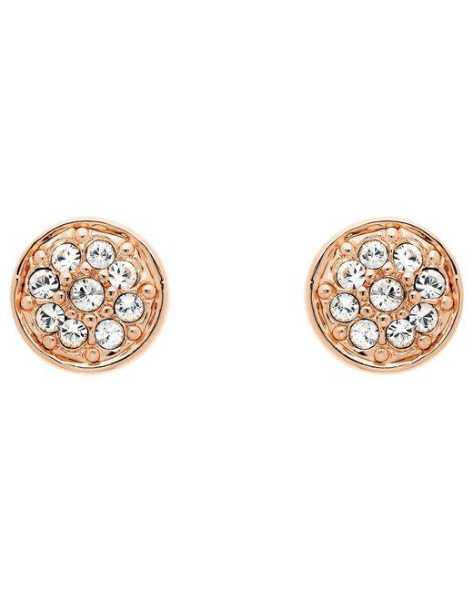 Melissa Odabash | Metallic Swarovski Crystal Pave Stud Earrings | Lyst