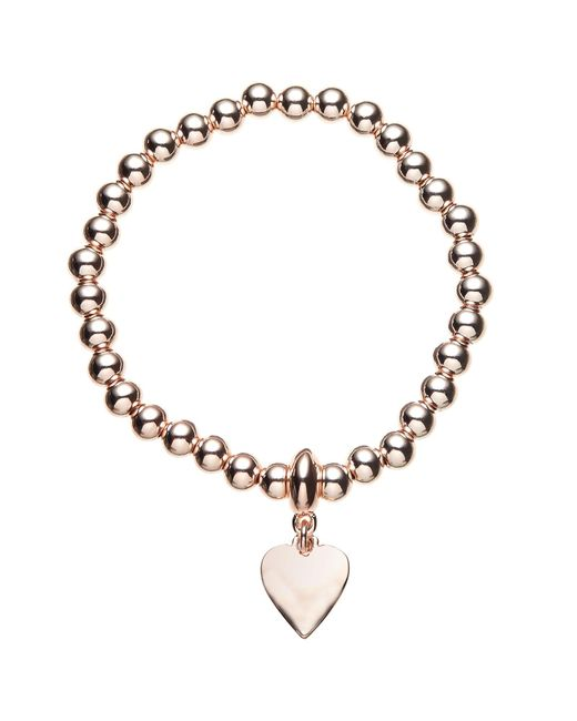 John Lewis | Metallic Ball Bead Heart Charm Stretch Bracelet | Lyst