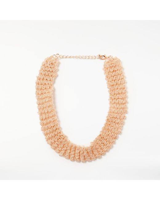 John Lewis | Metallic Beaded Chain Collar Necklace | Lyst