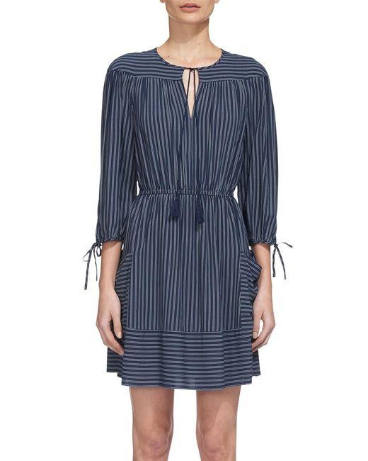 Whistles | Blue Eleri Stripe Dress | Lyst