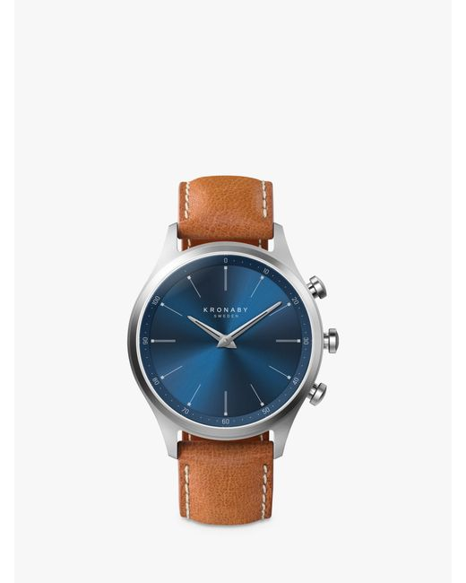 Kronaby - Blue Connected A1000-3124 Men's Sekel Leather Strap Smartwatch for Men - Lyst