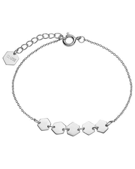 Cluse   Metallic Multi Hexagon Charm Chain Bracelet   Lyst