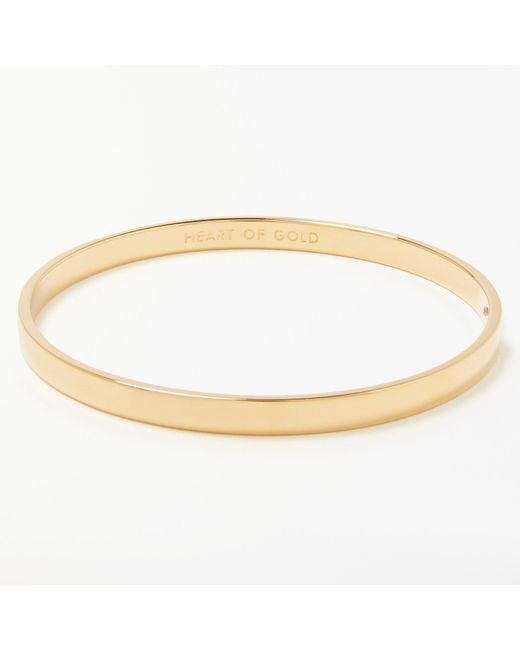 Kate Spade | Metallic Heart Of Gold Bangle | Lyst