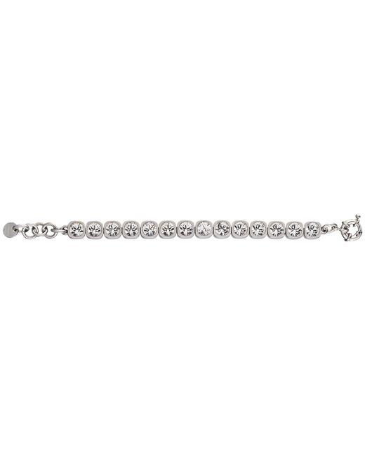 Dyrberg/Kern | Metallic Dyrberg/kern Conian Swarovski Crystal Silver Tennis Bracelet | Lyst
