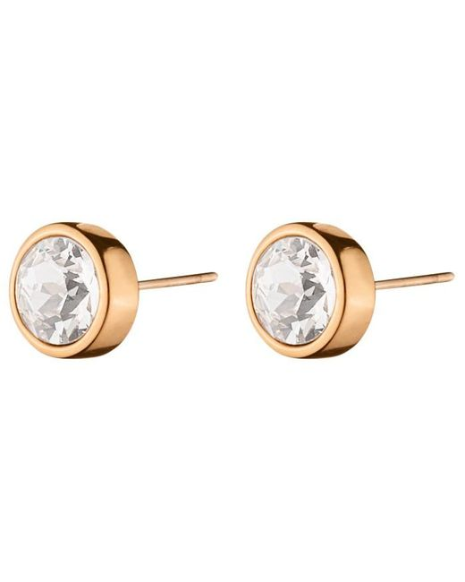 Dyrberg/Kern | Pink Dyrberg/kern Noble Medium Swarovski Crystal Stud Earrings | Lyst