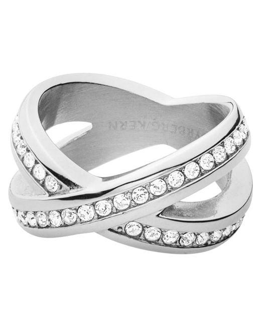 Dyrberg/Kern   Metallic Dyrberg/kern Crystal X-design Ring   Lyst