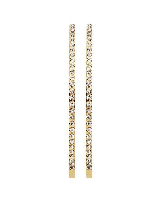 Dyrberg/Kern | Metallic Dyrberg/kern Quinn Slim Swarovski Crystal Hoop Earrings | Lyst