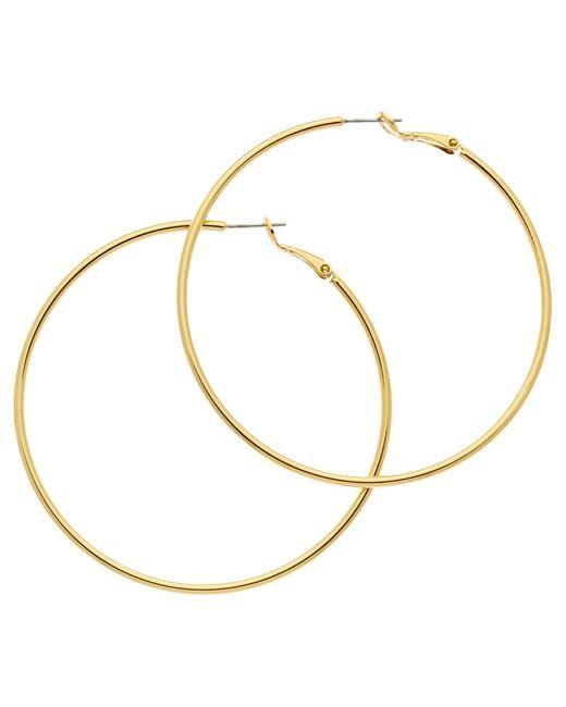 Melissa Odabash | Metallic Large Hoop Earrings | Lyst