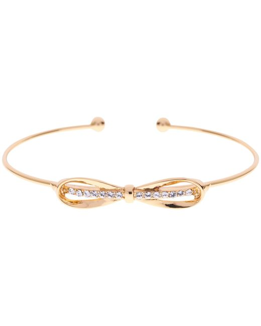 Ted Baker | Metallic Sorina Bow Detail Crystal Cuff | Lyst