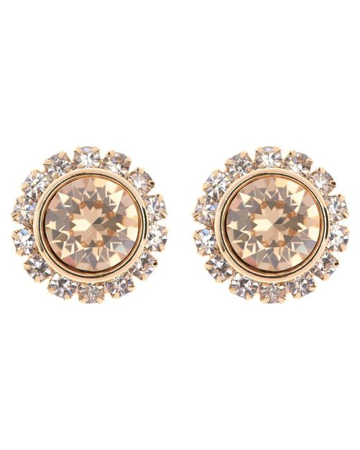 Ted Baker | Metallic Sully Swarovski Crystal Stud Earrings | Lyst