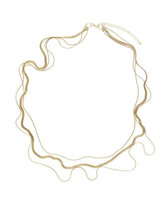 John Lewis | Metallic 3-row Layered Long Necklace | Lyst