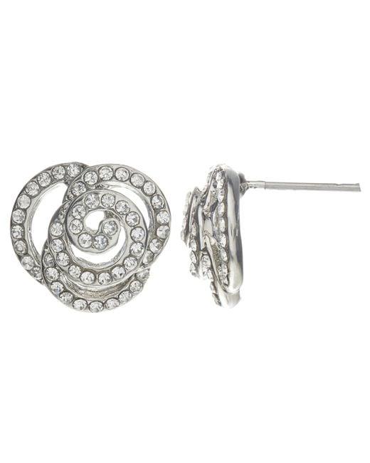 John Lewis | Metallic Rose Stud Earrings | Lyst