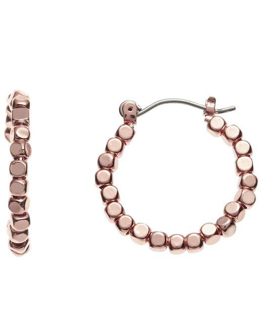 John Lewis | Metallic Bead Detail Hoop Earrings | Lyst
