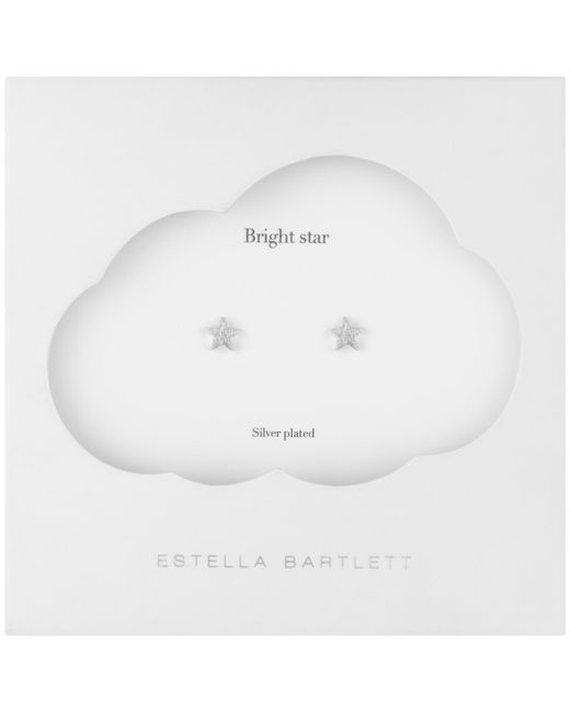 Estella Bartlett | Metallic Textured Mini Star Stud Earrings | Lyst