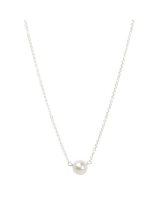 Dogeared | Metallic Sterling Silver Pearls Of Love Necklace | Lyst