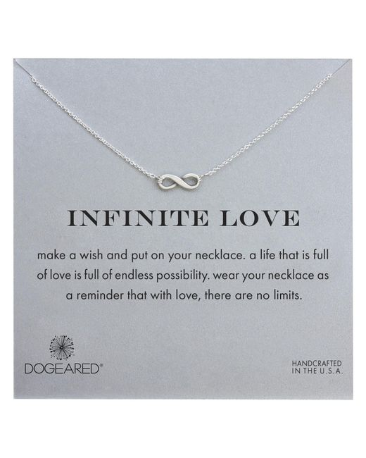 Dogeared | Metallic Sterling Silver Infinite Love Necklace | Lyst
