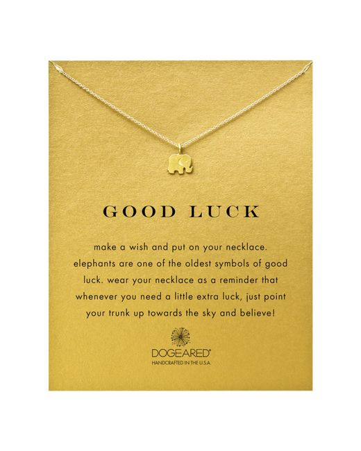 Dogeared | Gray Gold Plated Good Luck Elephant Necklace | Lyst