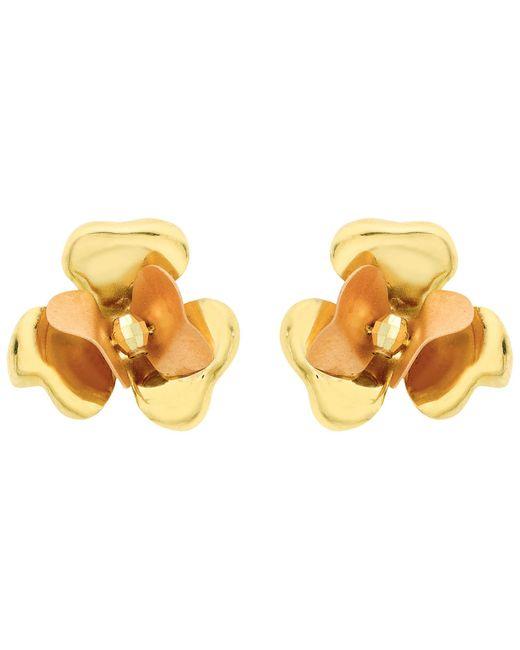 Ib&b | 9ct Yellow Gold Flower Stud Earrings | Lyst
