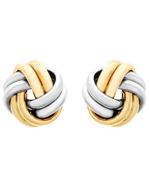 Ib&b | Metallic 9ct Gold Small Knot Stud Earrings | Lyst